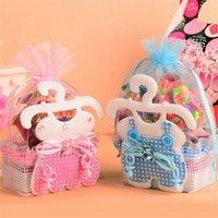 mädchen dusche geschenke groihandel-Babyflasche Süßigkeiten Tasche Hochzeit Dekorieren Liefert Baby Shower Kleines Geschenkpaket Schöne Rosa Blau Junge Mädchen 1 7qnC1