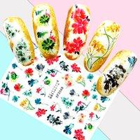nägel chinesisch großhandel-Diy nail art dekoration maniküre chinesische tinte malerei nails aufkleber cartoon landschaft aufkleber für nägel zubehör