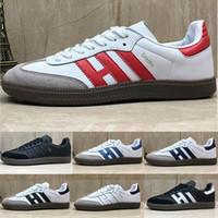 Adidas Samba Neue Samba Herren Freizeitschuhe Gazelle OG Schwarz Weiß Blau Samba Rose Designer Luxus Leder Damen Schuhe Größe 36 45