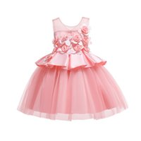 vestidos de princesa americana para niños pequeños al por mayor-12 años Baby Girl Princess Dress Kids Raya Vestidos Sin Mangas Para Niños Pequeños Ropa de Moda Americana Europea Y19061701