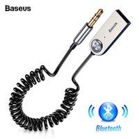 orador da música do carro usb venda por atacado-Adaptador USB Bluetooth Dongle Baseus Cabo Para O Carro 3.5mm Jack Aux Bluetooth 5.0 4.2 4.0 Receptor Speaker Transmissor de Música de Áudio