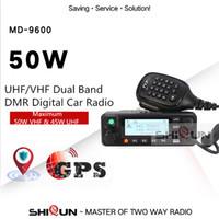 uhf transceptor móvel venda por atacado-TYT MD 9600 Radio Talkie Walkie 50 KM móvel Car DMR Digital 136 174/400 480MHz Dual Band Transceiver 3000CH 50/45 / 25W RT90 TYT