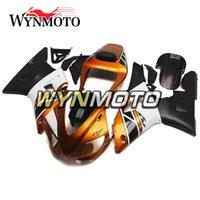 moto yamaha r1 carenado 1998 al por mayor-Carenados de motocicleta naranja negro para Yamaha YZF 1000 R1 1998 1999 ABS plástico inyección kits de muelles cubiertas de carenados