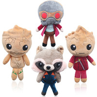 Wholesale avengers stuffed animals resale online - Guardians of the Galaxy High Quality The Avengers Plush Doll Soft Carton Marvel Hero Series Stuffed Animals Plush gifts For Kids
