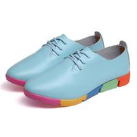 zapatos de enfermería de moda al por mayor-Primavera Nuevos zapatos de gran tamaño para mujer Madre de cuero Zapatos para mujeres embarazadas Moda casual Enfermera de gran tamaño Guisantes individuales