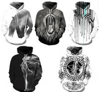 chándales de cebra al por mayor-2019 Moda 3D Skull Unicorn Oil Zebra Lion Impreso Sudadera con capucha Sudadera Hombres Mujeres Unisex Hoody Tops Casual Sportswear Chándal