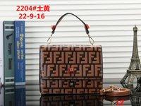 çanta tokaları toptan satış-2019 Brandl Satchel Çanta Designe Flap Omuz Çantaları Kadın F Manyetik Toka Crossbody Çanta FF Desen PU Deri Kayış Çanta