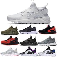 huarache mulheres venda por atacado-Air Huarache For Men Ultra I IV Running Shoes Calçados Triplo Black Red White Grey Oreo Womens Men respirável Sneakers instrutor de esportes