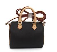 Wholesale cute style handbags resale online - Hot SPEEDY shoulder M61252 Mini cute handbag leather shoulder cross bags cm Female NANO bucket brown flower mini pillow CLUCH BAG