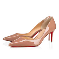 Wholesale red sole stiletto shoes for sale - Group buy Nude Black Patent Leather Glitter Women Shoes Red Bottom Iriza Shoes Italy Luxury Men Red Soles High Heels Party Dress Flats Heels Super Qua