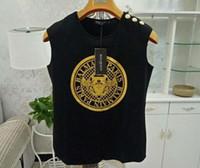 üst modal gömlekler toptan satış-Tasarımcı t shirt Alfabe baskı gevşek Bayan Bayanlar Kolsuz Tank Tops Yelek Düz T Shirt Yelek Üst Modal Lady Yoga Spor Tayt