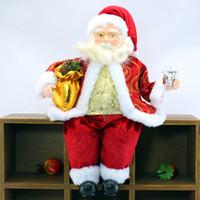 muñeca grande de santa claus al por mayor-Decoraciones de Navidad para el hogar 50CM Gran Santa Claus muñeca Niños de Navidad Año Nuevo Partido del boda del árbol de Navidad regalo de la decoración Suministros T191006