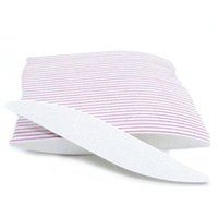 Wholesale white block buffers resale online - 10Pcs White Nail File Buffer Block Professional Crescent Moon For Manicure UV Gel Varnish File Sandpaper Tool Nail Files