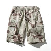 camuflagem shorts quentes venda por atacado-Homens Hot Venda Moda respirável Camouflage Carga Calças Curtas Masculino de Hip Hop Rua Casual shorts soltos