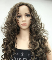 Wholesale brown wavy medium length wigs resale online - WIG ZCD New Stylish Medium Brown Long Wavy Curly Women Ladies Daily Fluffy wig Hivision