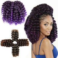 Wholesale african hair twist braiding for sale - Group buy 5 Packs Wand Curl Crochet Hair Synthetic Crochet Braids Inch Jamaican Bounce Twist African Braiding Hair For Black Women