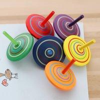beyblade el toptan satış-100 ADET Bambini Ahşap Beyblade 4.5 cm Ahşap çocuk Eğlence Çocuklar Için El Spinne Oyuncaklar Fidget Spinner Klasik Dönen top AIJILE