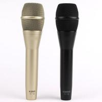 micrófono cardioide al por mayor-KSM8 Micrófono con cable KSM9 Dinámico Cardioide Micrófono vocal Karaoke Profesional Micrófono de mano para Live Stage Performance show Mic