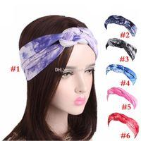 ingrosso cravatte cinesi-6 colori scelgono la fascia per capelli da donna in stile etnico gratuito Fascia per cravatta cinese Fascia per capelli per adulto 24 * 10cm