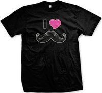 Wholesale red hair love for sale - I Heart Mustache Love Facial Hair Beard T shirt Cool xxxtentacion marcus and martinus tshirt discout hot new top t shirt