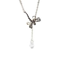 Wholesale diy coral necklace resale online - Necklaces Pendants Dreamy Dragonfly Necklace With Clear CZ DIY Sterling Silver Jewelry Silver Pingente
