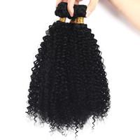 accesorio para el cabello humano al por mayor-4b 4c Cabello humano a granel para trenzar rizado afro rizado Extensiones de cabello a granel rizado Sin accesorio FDSHINE