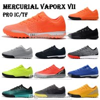 Wholesale acc turf soccer shoes resale online - New Mens Low Ankle Football Boots CR7 Mercurial VaporX VII Pro IC TF Soccer Shoes Vapors Neymar ACC Superfly Indoor Turf Soccer Cleats