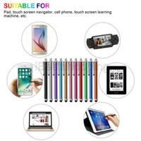 dokunmatik kalemler toptan satış-Metal Tablet Kalem Stylus Kalem Kapasitif Dokunmatik Ekran Için Evrensel Cep Telefonu Tablet iPod iPad cep telefonu