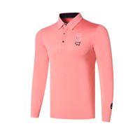 Wholesale white sports shorts for sale - Group buy New Men Dust_Proof Golf Shirt Latest Spring summer Tit Golf sports shirt Full Sleeves Anti Pilling Short Golf T Shirt