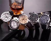 precio caja de relojes al por mayor-Reloj de pulsera de cuero de acero inoxidable CON CAJA ORIGINAL