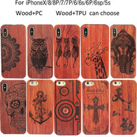 Wholesale laser engraved iphone case online – custom Luxury Engraved Free Laser Logo Customized Wood Phone Case Real Wood Mobile Housing For iPhone Plus X XR XS Max