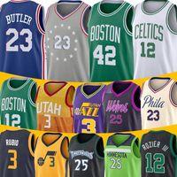ingrosso maglie al-Maglie dell'Utah Ricky 3 Rubio Terry NCAA 12 Rozier III Al 42 Horford Derrick 25 Rose Basketball Timberwolves Celtic School