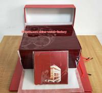 ingrosso carte rosse-Di alta qualità di lusso PP Aquanaut orologio originale scatola di carte di legno rosso scatola borse per Nautilus 5167 5711 5712 5740 5726 5980 orologi