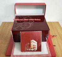 luxus holz uhren groihandel-Luxus Hohe Qualität PP Aquanaut Uhr Original Box Papiere Karte Rote Holz Boxen Handtasche Für Nautilus 5167 5711 5712 5740 5726 5980