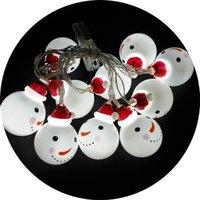 ev tipi pil ampulleri toptan satış-LED Pil Kardan Adam Ampul Renklendirme Plastik Lambalar Dize Noel Partisi Dekorasyon Sıcak Beyaz Festivali Ev Gereçleri 9tl hh