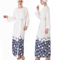 vestidos turcos de verano al por mayor-2019 Nuevo Vestido Musulmán Mujeres Ropa Islámica Flor de Verano Marroquí Abayas Damas Largas Kaftans Robe Dubai Abaya Ropa Turca