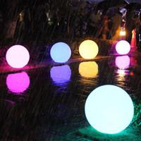 bandera usb al por mayor-Thrisdar Globo Glow Glow Glitter recargable al aire libre 16 Color Piscina inalámbrica Globo flotante para niños Dormitorio Party