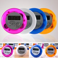 Wholesale count up down timers for sale - Group buy 4 Colors Cute Mini Digital Home Kitchen Round LCD Display Digital Cooking Home Kitchen Countdown Timer Count Down Up Alarm