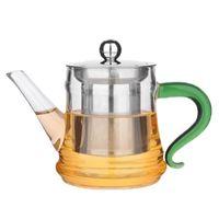 glasbehälter großhandel-Die Fabrik liefert Glasblumenteekanne, Brühteekanne, hitzebeständiges transparentes Glas mit Fruchtkochendeekanne 400 ml kleiner Topf aus Vorrat