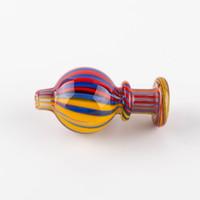 boules de couleur achat en gros de-Nouveau Design Banger Carb Cap Perruque Colorée Wag pour Terp Pearl ball Quartz Thermique Banger Ongles Dabber Verre Bongs Dab Rigs