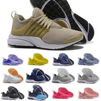 pembe sıcak sutyen toptan satış-Sıcak Satmak 2019 Presto 5 Erkekler Kadınlar Run Ayakkabı Hava Yastığı Prestos 4 Ultra BR QS Tp Sarı Pembe Siyah Oreo Spor Moda Fly Tasarımcı Sneakers