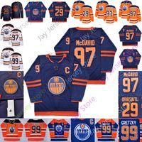 Wholesale ryan nugent hopkins jerseys resale online - 2019 Edmonton Oilers Third Blue Jersey Vintage Connor McDavid Milan Lucic Leon Draisaitl Ryan Nugent Hopkins Wayne Gretzky