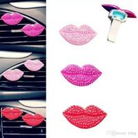 duftender diffusor großhandel-Neue Weihnachts Mode Liebend Sexy Lippen Auto-Luft-Fragrant Outlet Lufterfrischer Parfüm Clip-Erfrischungs Diffusor Geschenk