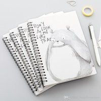 Wholesale mini pocket notebook resale online - Student Stationery Office Memo Pad Coils Portable Notebook Mini Trumpet Pocket Notepad Spiral Travel Journal Book School BC BH1497