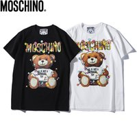 ingrosso luci a corona corta-MOS Marca cartoon lettere orso Stampato T-Shirt string light Tshirts Estate Uomo Donna Street Skateboard Maniche Corte tees Casual top tees