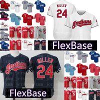 venta al por mayor al por mayor-Cleveland Indians Jersey 24 Andrew FlexBase CoolBase Barato cosido al por mayor Jerseys de béisbol 23 Adrian Gonzalez Envío gratis