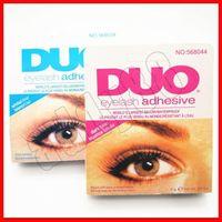 Wholesale glues online – 2019 Eye Makeup DUO Water proof Eyelash Adhesives glue G White BlacK Make Up Tools Professional