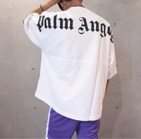 Wholesale white angel clothes for sale - Group buy 2019 Best Palm Angels T shirt Letter printing Men Women t shirt Hip Hop Palm Angels Clothing Fashion Short sleeve T shirt Tees Black White