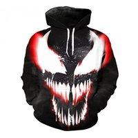 ingrosso tuta sportiva-Marvel Venom 3D Stampato Felpe Uomo Donna Hooded Felpe Hip Hop Pullover Giacche Qaulity Tuta Ragazzo Cappotti Cool Outwear