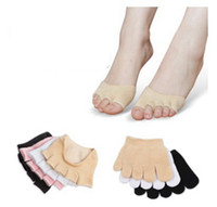 Wholesale yoga foot for sale - Group buy Cotton Yoga Socks Non slip Breathable Invisible Yoga Five Finger Sport Socks For Foot Care Tools styles RRA1589